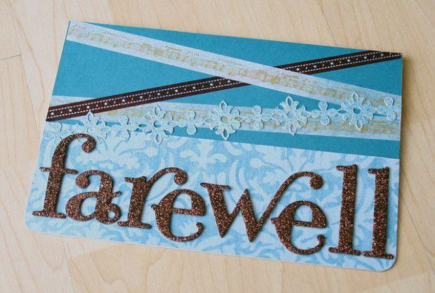 Group Farewell Card Handmade Invitation Cards Farewell Cards Farewell Invitation Card