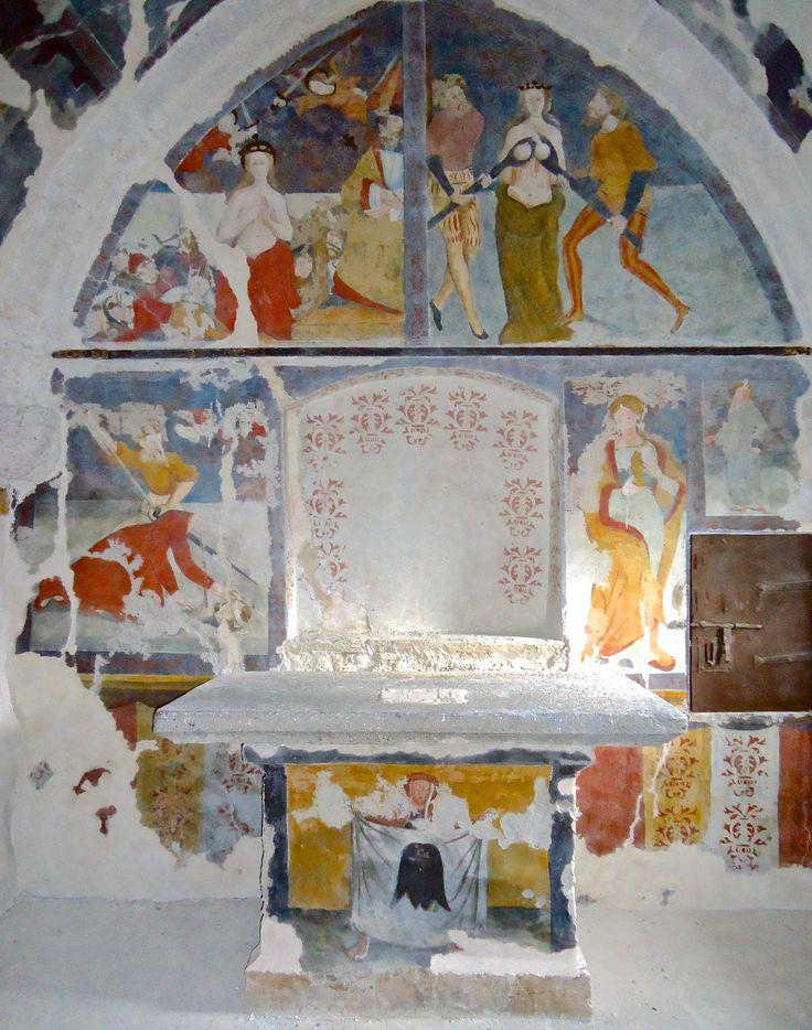 The chapel of Santa Maria Maddalena e Santa Caterina d'Alessandria (XVI c.) in Bardonecchia (loc. Chaffaux) - Torino - Piedmont - Italy after paintings conservation (2012)
