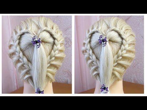 Coiffure avec tresse 💘 simple rapide et belle 💘 Tuto coiffure cheveux long/mi long – YouTube