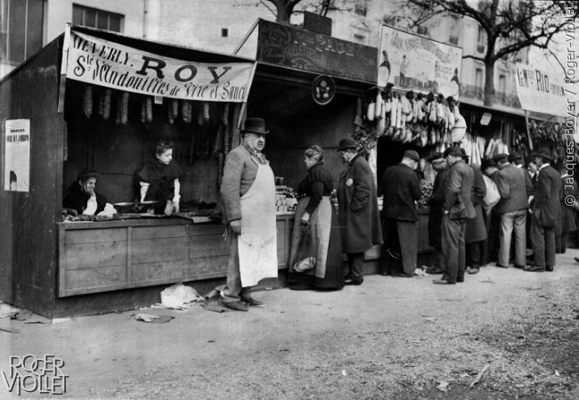 Foire aux jambons. Les andouilles de Vire. Paris, 1908.
