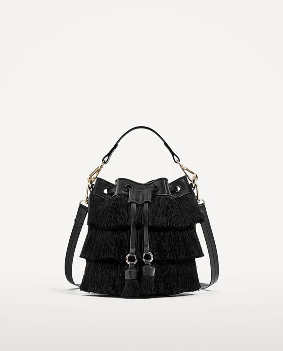Image 2 of MINI BUCKET BAG WITH FRINGE from Zara