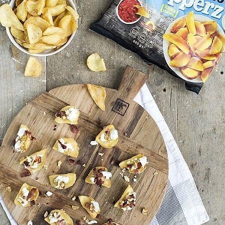 Potato dipperz met spek en geitenkaas