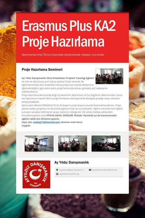 Erasmus Plus KA2 Proje Hazırlama