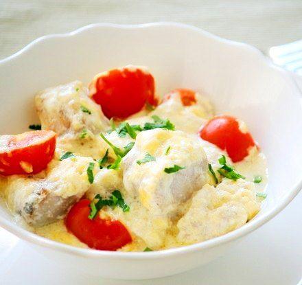 Треска запечённая с сыром и томатами - Kurkuma project (Проект Куркума) Просто суперский рецепт в раздел дежурных. Я рыбу готовлю постоянно, поэтому этот рецептик с кучей вариаций у меня всегда наготове.