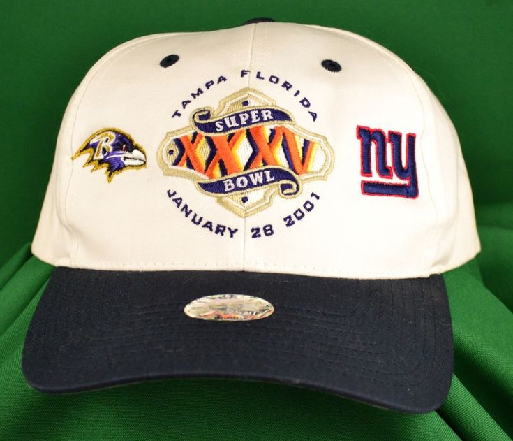 NEW Super Bowl XXXV 2001 Tampa Florida Football Hat/Cap Ravens Vs. Giants #TwinsEnterprisesInc #RavensvGiants