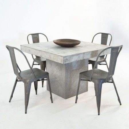 BOXHILL's Blok Square Concrete Outdoor Dining Set + Alix Chairs makes a clear statement of great style and taste. Whether you have an industrial loft in the city or a modern, outdoor patio, this dining set will blend seamlessly with your aesthetic. See all of our sleek, modern dining sets at www.shopboxhill.com