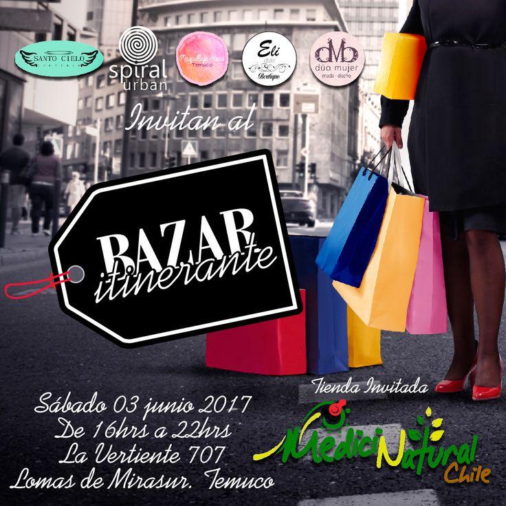 Ven disfrutar del primer #BazarItinerante que realizaremos el próximo sábado 3 de junio 17. Ven con tus amigas a disfrutar de los outfit de @eli_chic_boutique_temuco, último en maquillaje con @@maquillajestore.online, las tendencias que trae @duomujer y la #personalidad es tu mejor guardarropa con @spiralurban con su #OtoñoLook y sus leggings de vestir y deportivas. Calzadas con los zapatos y accesorios de @boutique_santo_cielo. 👖👠👢👛 Además el detalle de lujo lo coloca nuestra…