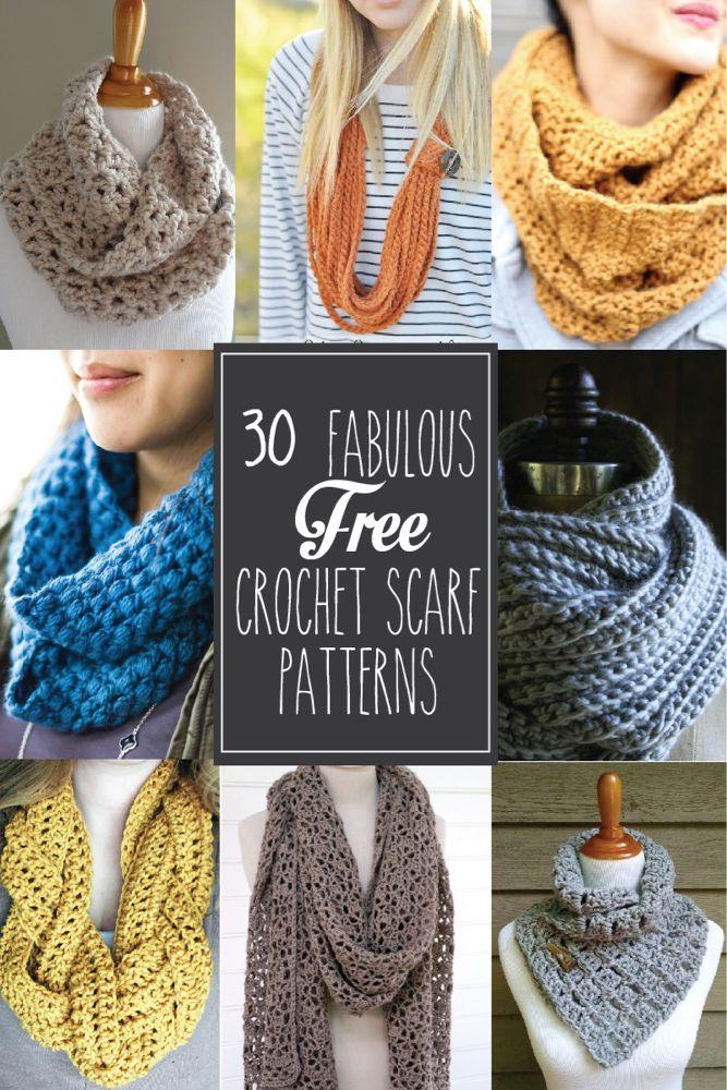 30+ Fabulous and Free #Crochet Scarf Patterns -