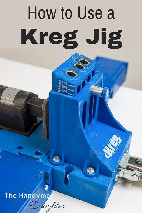 Want to learn how to use a Kreg Jig? This tutorial shows you how to use the two ...