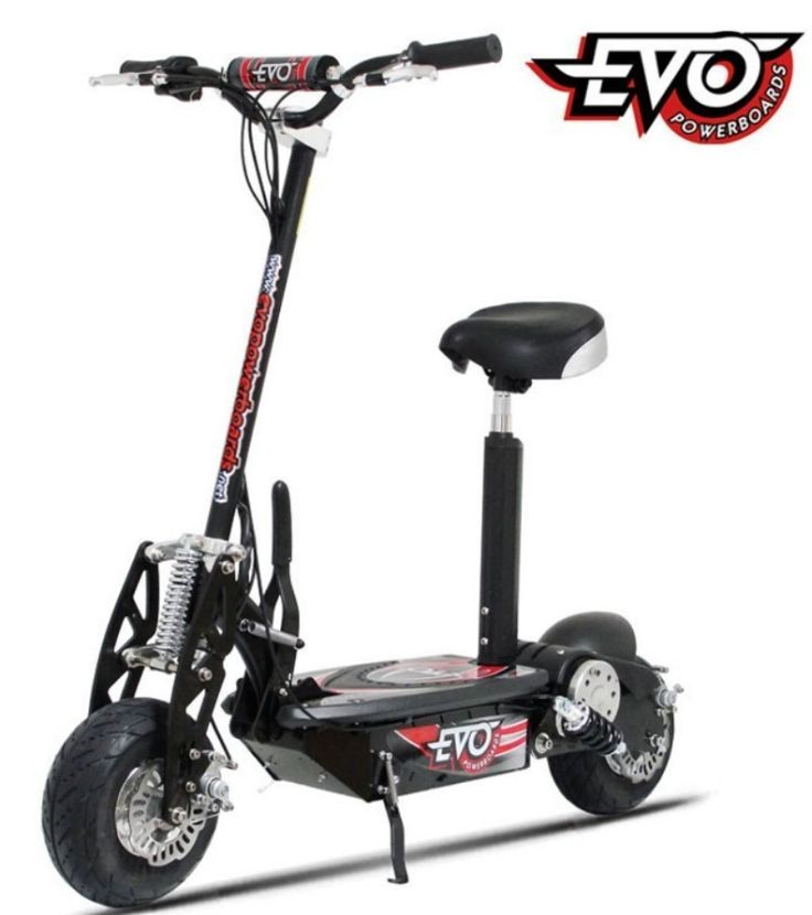 Evo 1000 Watt Electric Scooter Riding Toy - From a very young age, Puzey was able to strip and rebuild a go-kart engine, and he built his first motocross bike at 11 years old. Building and designing top-tier vehicles are his passion. Puzey's workshop is a tidy place, and it's the den in which he manufactures and tests every prototype item...