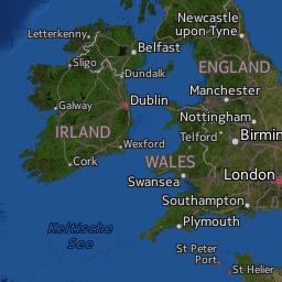 Radar de lluvia en el Reino Unido