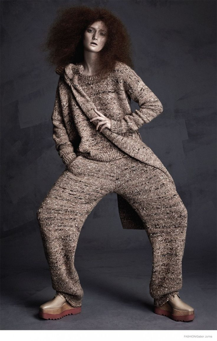 Putting on the Knits--The October issue of Canada's Fashion Magazine puts the spotlight on fall knitwear with this editorial photographed by Gabor Jurina.