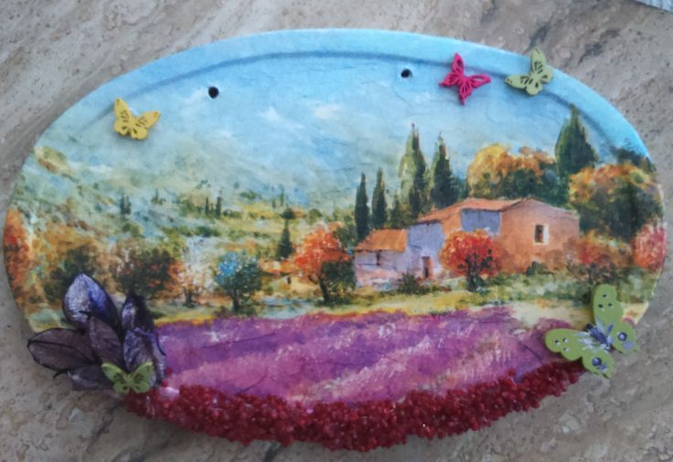 decoupage & painting made by Nati Merlin