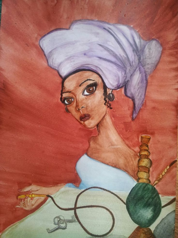 #africa #voodoo #hookan  #watercolour