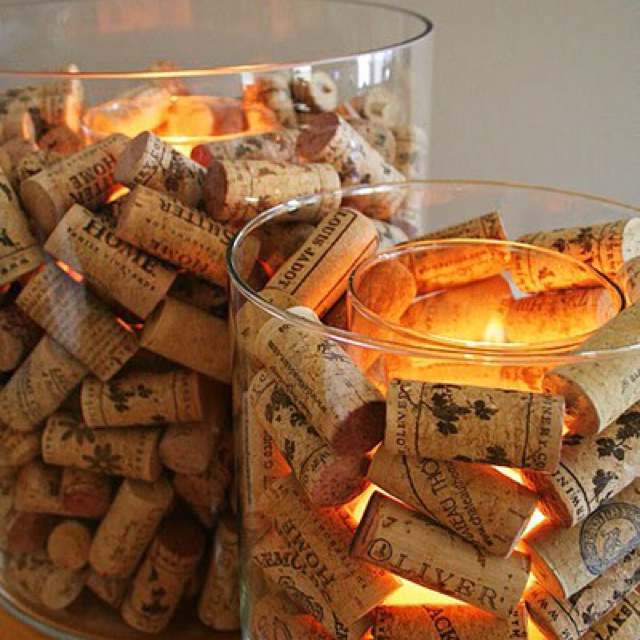 More things to do with corks: Wine Corks, Corks Candles, Wine Parties, Candle Holders, Candles Holders, Cute Ideas, Winecork, Wine Bottle, Centerpieces