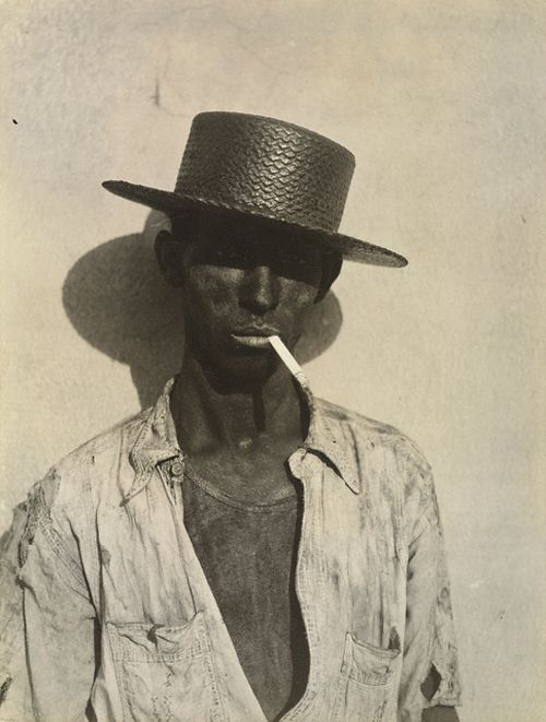 "photo US NB : Walker Evans, 1933, ""Docker, la Havane"", Cuba, Caraïbe, 1930s, portrait d'homme"