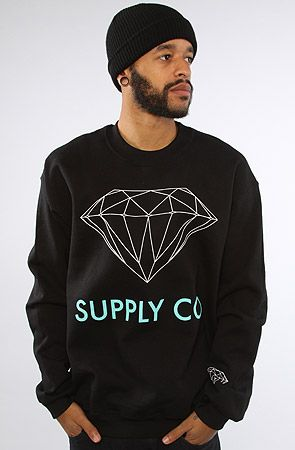 The Supply Co Crew Sweatshirt in Black by Diamond Supply Co. HAHA!!!  Need one