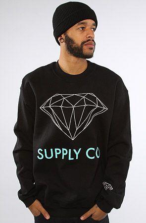 The Supply Co Crew Sweatshirt in Black by Diamond Supply Co. HAHA!!!
