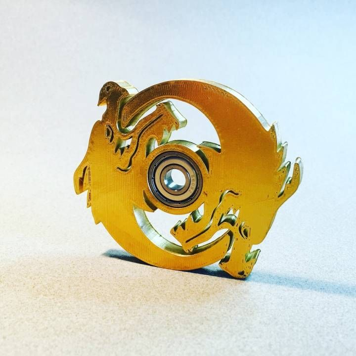 Download 3D Printed Hanzo Ult Icon Spinner - Overwatch  by fotis mint