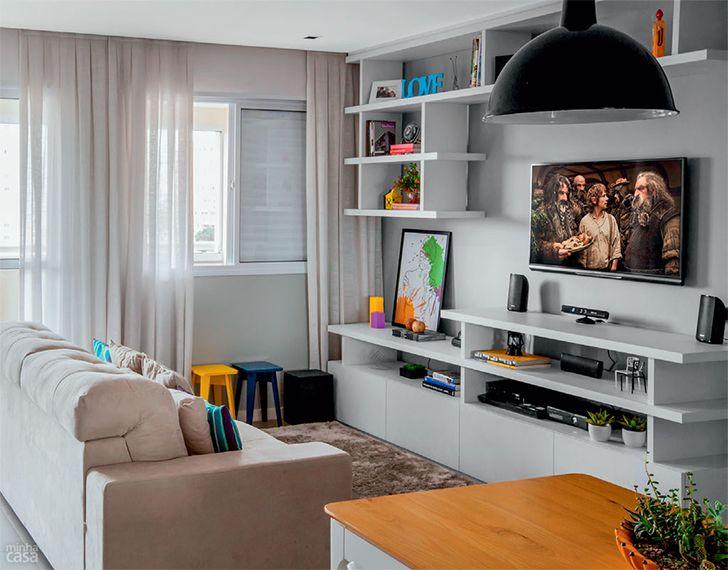 Sala De Estar Ideias ~  confortáveis de jantar estar tv salas estar jantar sala de