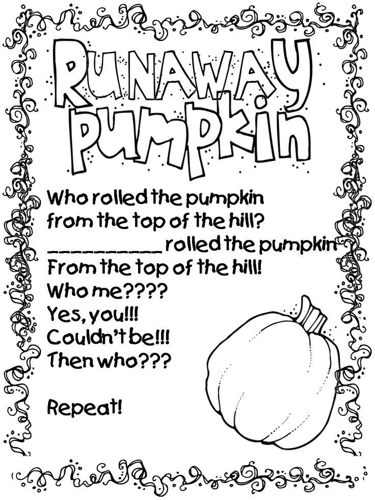 first grade wow runaway pumpkin education halloween poems pumpkin poem pumpkin song. Black Bedroom Furniture Sets. Home Design Ideas