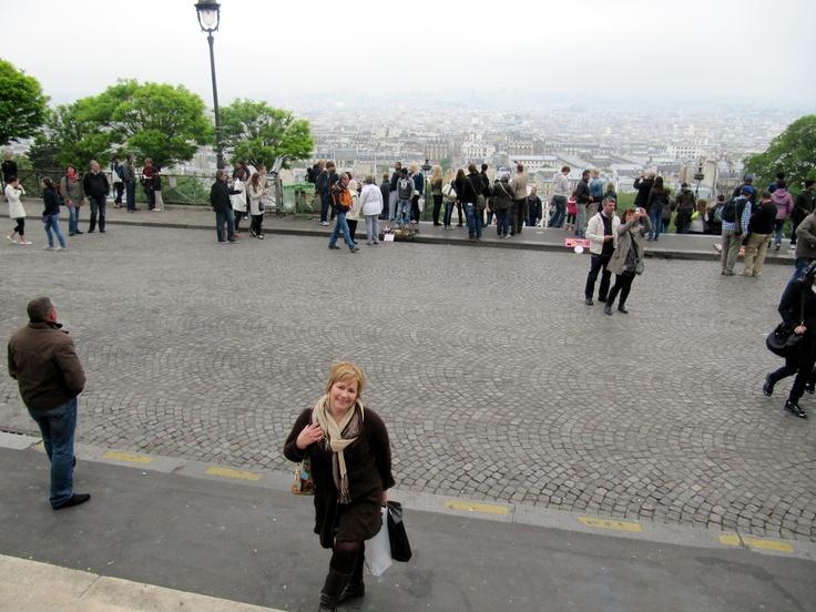 View of Paris from Sacre Coeur church Montmarte