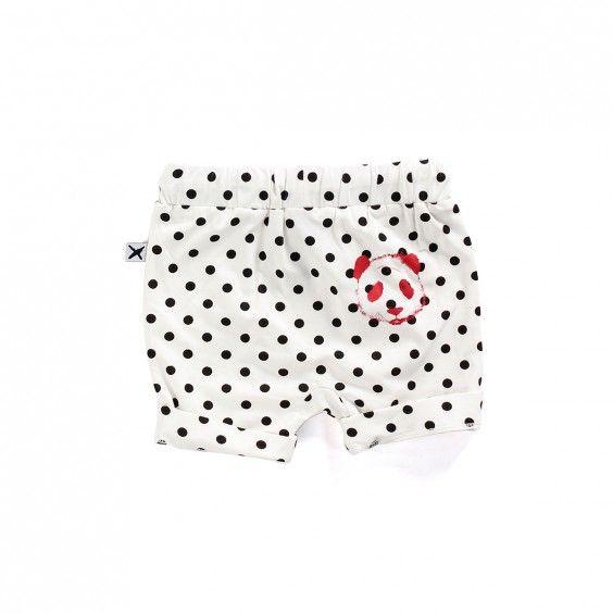 Minti Baby Slouch Short Painted Panda - Polkadot - Minti - Shop by Brand - Ragamuffins New Zealand