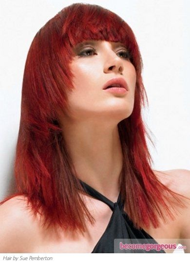 Pictures : Red Hair Color Shades - Bright Red Hair Color