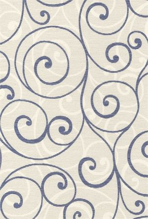 'Scroll Cream' A contemporary roller blind suitable for around the home.  Show off your new window blind by choosing from our selection of braid trimmings and blind shapes.