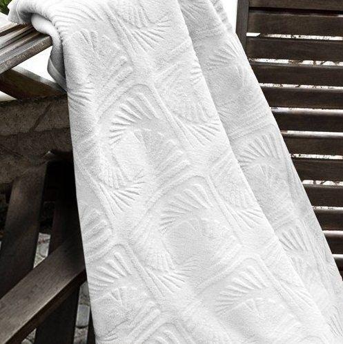 Koc wytłaczany biały, 150x200 cm