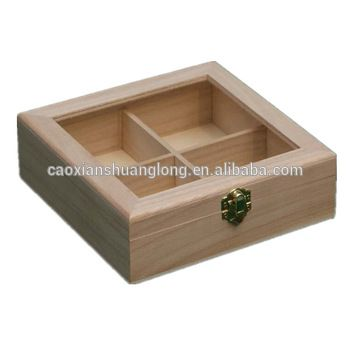 New Unfinished Wooden Box With Glass Lid Cut Out,High Quality Unfinished Wood Boxes With Lids,Small Unfinished Wooden Boxes