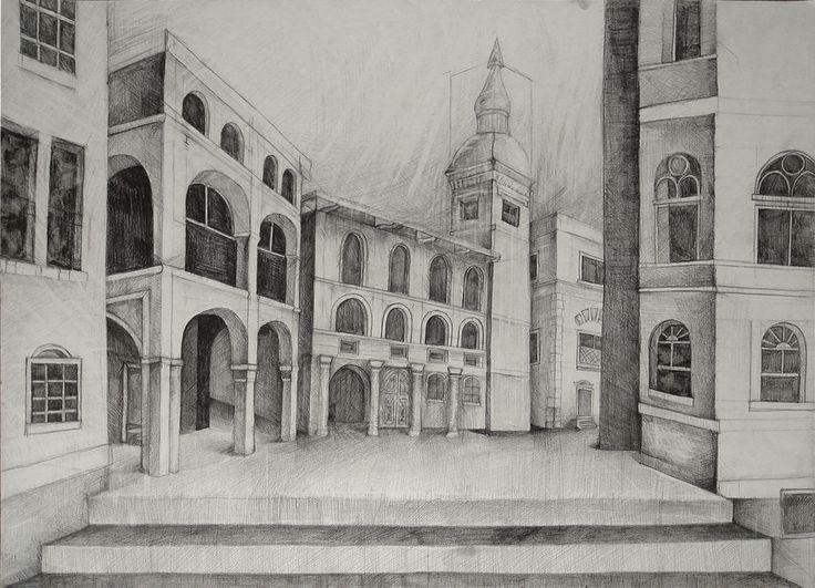 Rysunek wykonany w Szkole Rysunku Ventzi