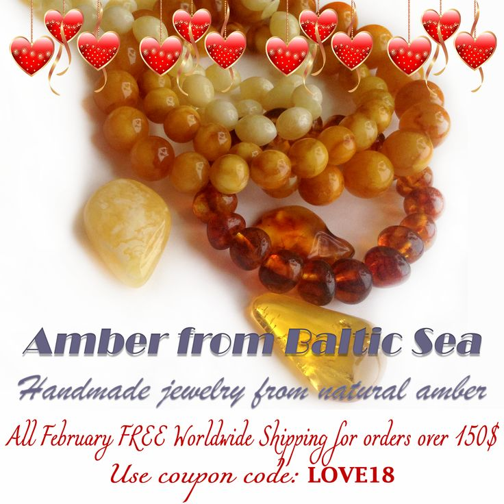 """FREE SHIPPING worldwide for all lovers! Use coupon code: """"LOVE18""""  All February! for orders over 150$"""