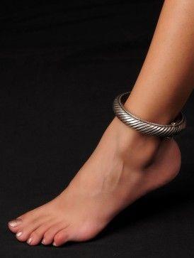 Bold Sterling Silver Anklet (Inner Diameter - 2.6in)