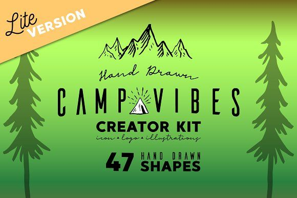 Free for a limited time! The link will show the original price, but it is a free download until Jan 1st. Lite-CAMP VIBES Creator Kit by Walkxdesigns on @creativemarket  save you time when you need to create any kind of mountain/outdoor/camp hand drawn design. This kit is great for creating logos, badges, merchandise designs and more!  Graphic, design, ad, affiliate.  #vector #camping  https://www.kznwedding.dj