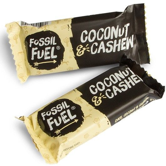 Fossil Fuel Coconut & Cashew Bar.  These 100% RAW paleo energy bars are packed with high quality, all natural ingredients that are absolutely bursting with nutrients.