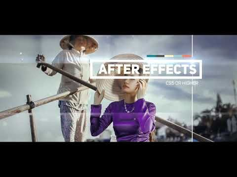 """After Effects intro template """"The Slideshow"""" + Free Download"""