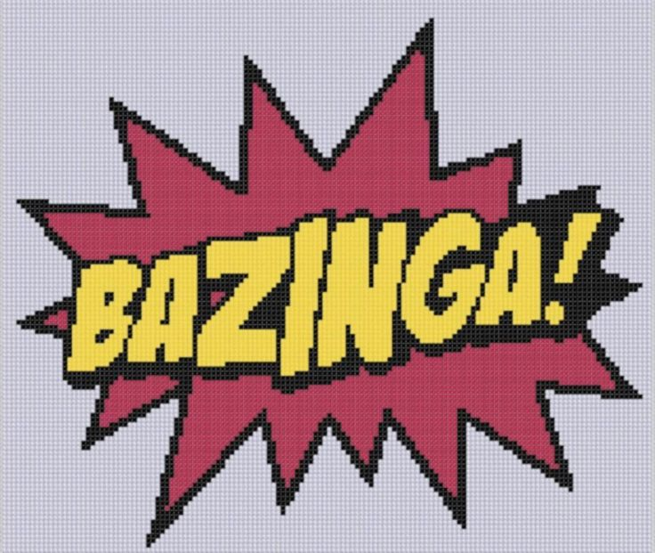 Bazinga 2 Cross Stitch Pattern