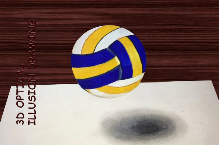 Drawing: volleyball - How to draw 3D Art - YouTube