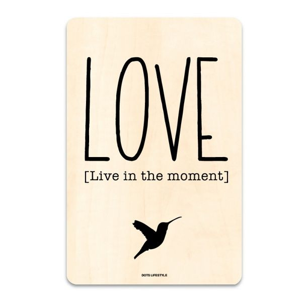 Houten poster -  Love ♥ van BERCADEAU op DaWanda.com