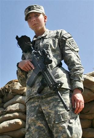 PROFILE OF COURAGE Army Spc. Monica Lin Brown, of Lake Jackson, Texas, recipient of Silver Star, the 2nd woman to receive this award since WW II. She was 19 at the time in 2007. Very proud of this Texan!