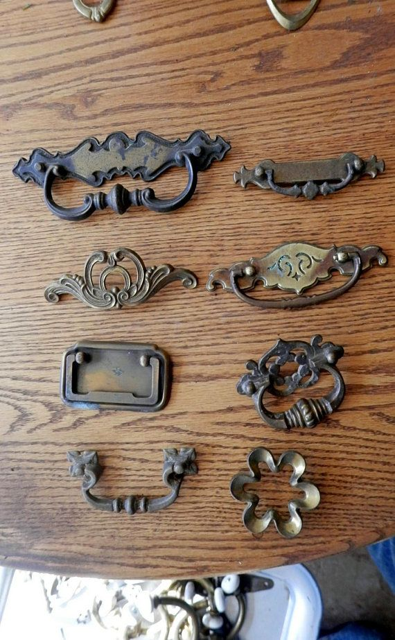 Choice One 1 Vintage Drawer Pull Antique Br