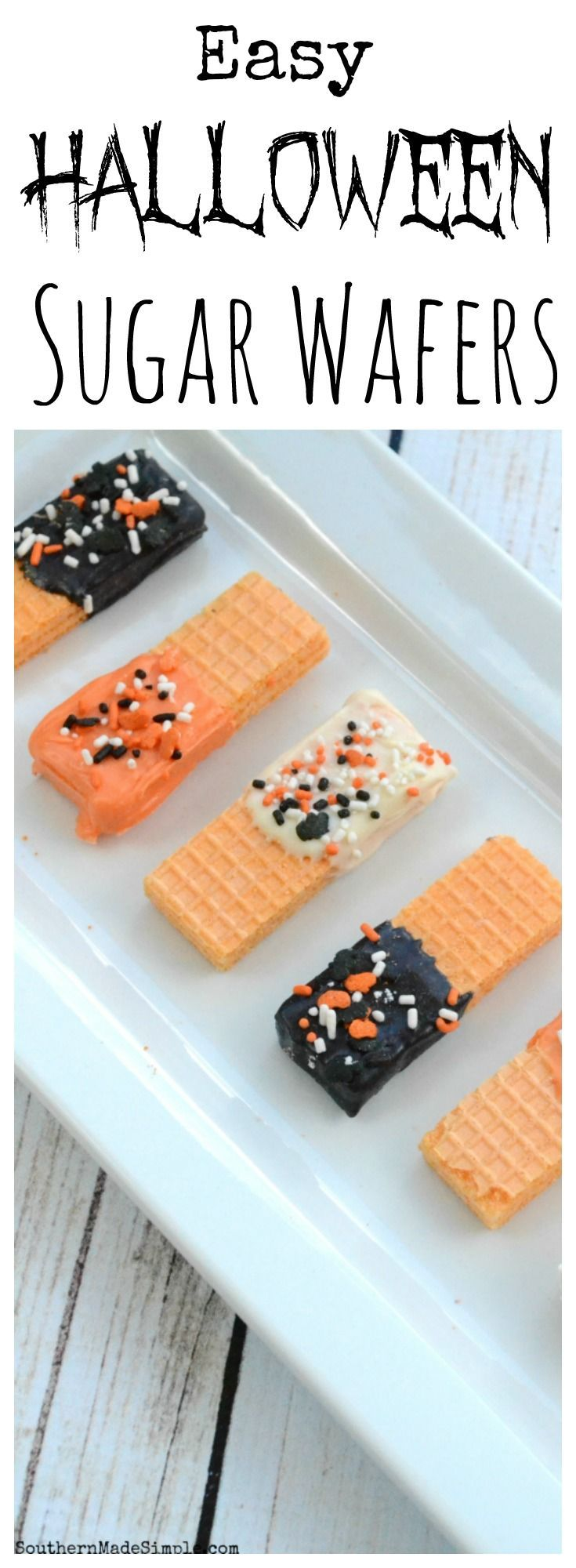 These simple Halloween treats are easy to make and come together in a pinch. They're the perfect snack to make for a Halloween party and are easy for kids to make!