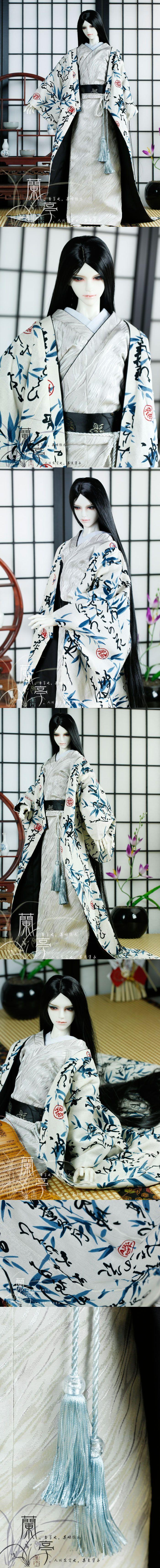 BJD Clothes Boy/Male Kimono [Zhujun] for 80cm/75cm/70cm/SD/MSD/YSD Ball-jointed Doll_CLOTHING_Ball Jointed Dolls (BJD) company-Legenddoll