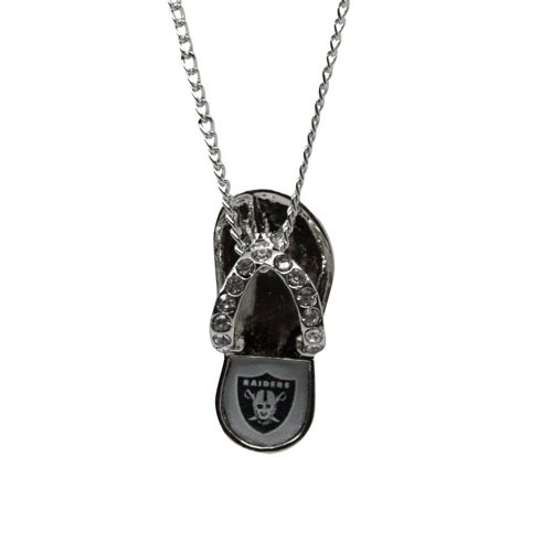Oakland Raiders Crystal Flip Flop Necklace - love this