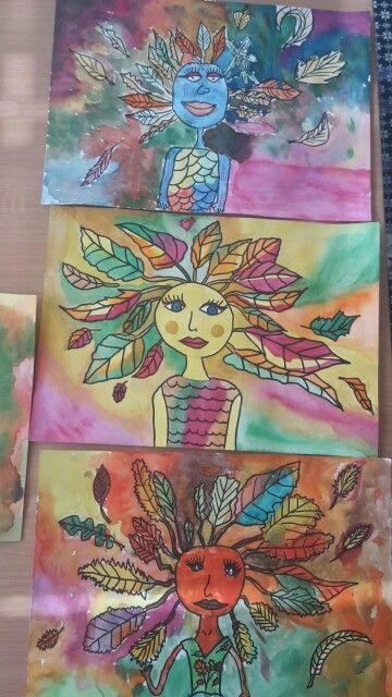 Podzimní víla. Malování s dětmi
