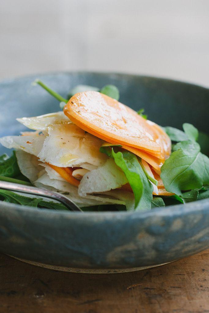 Persimmon Fennel Rocket Salad By My Darling Lemon Thyme