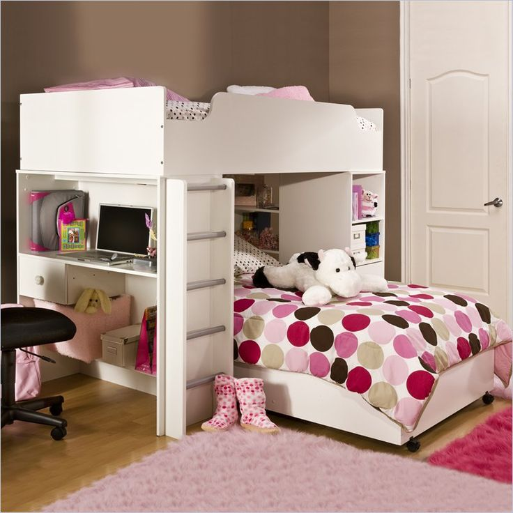 South Shore Logik Loft Bunk Bed In Pure White Bedroom Decorating Ideas For Creative Kids Rooms Photos Designs Pictures
