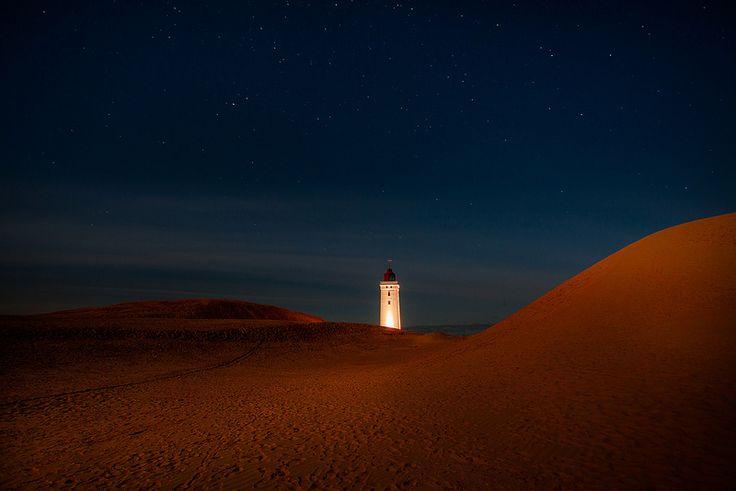 Rubjerg #Lighthouse in moonlight | by Torehegg  http://dennisharper.lnf.com/
