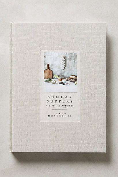 sunday suppers book #anthropologie #anthroregistry